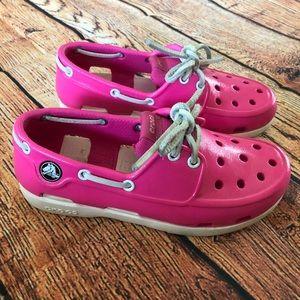 Crocs Kids Beach Line Lace Boat Shoe PS
